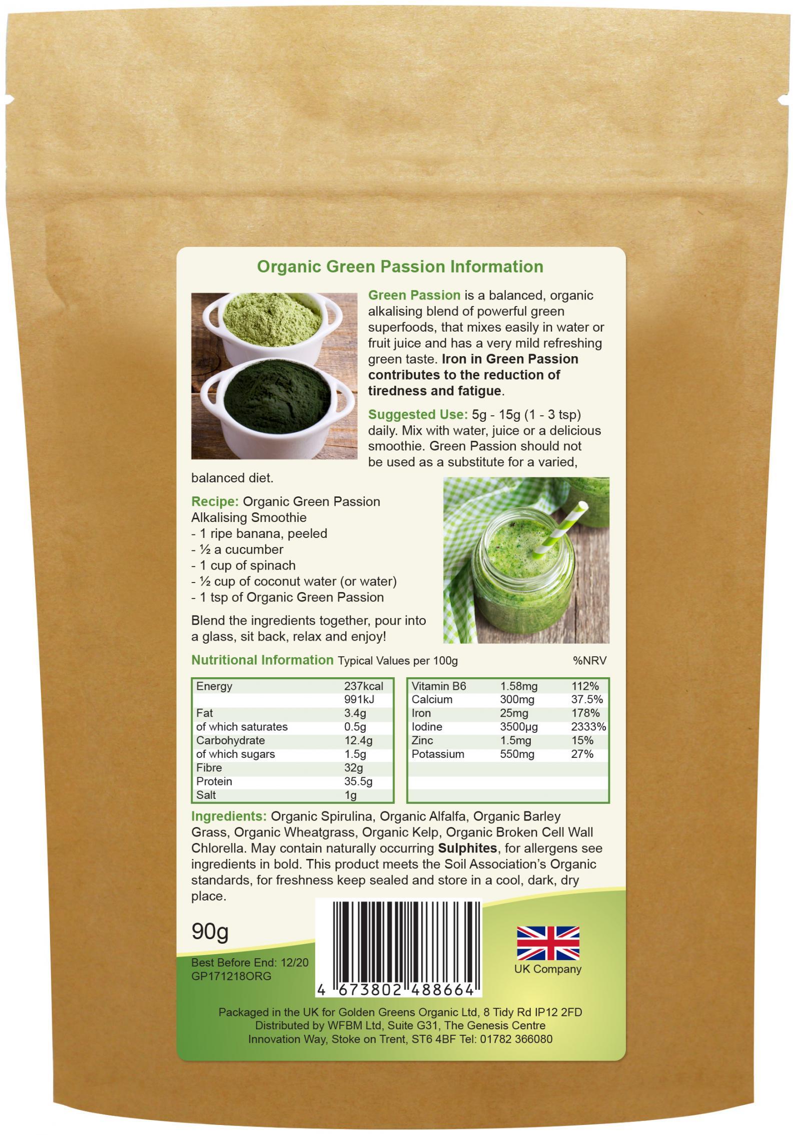 Organic Green Passion 90g
