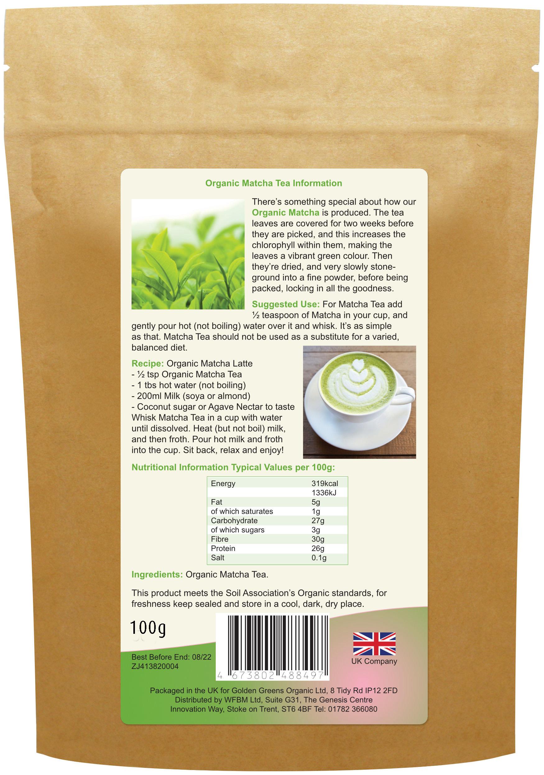 Organic Matcha Tea 100g