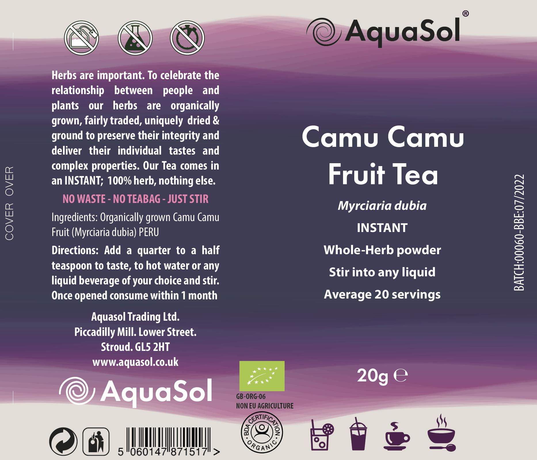 Camu Camu Fruit Tea Organic 20g