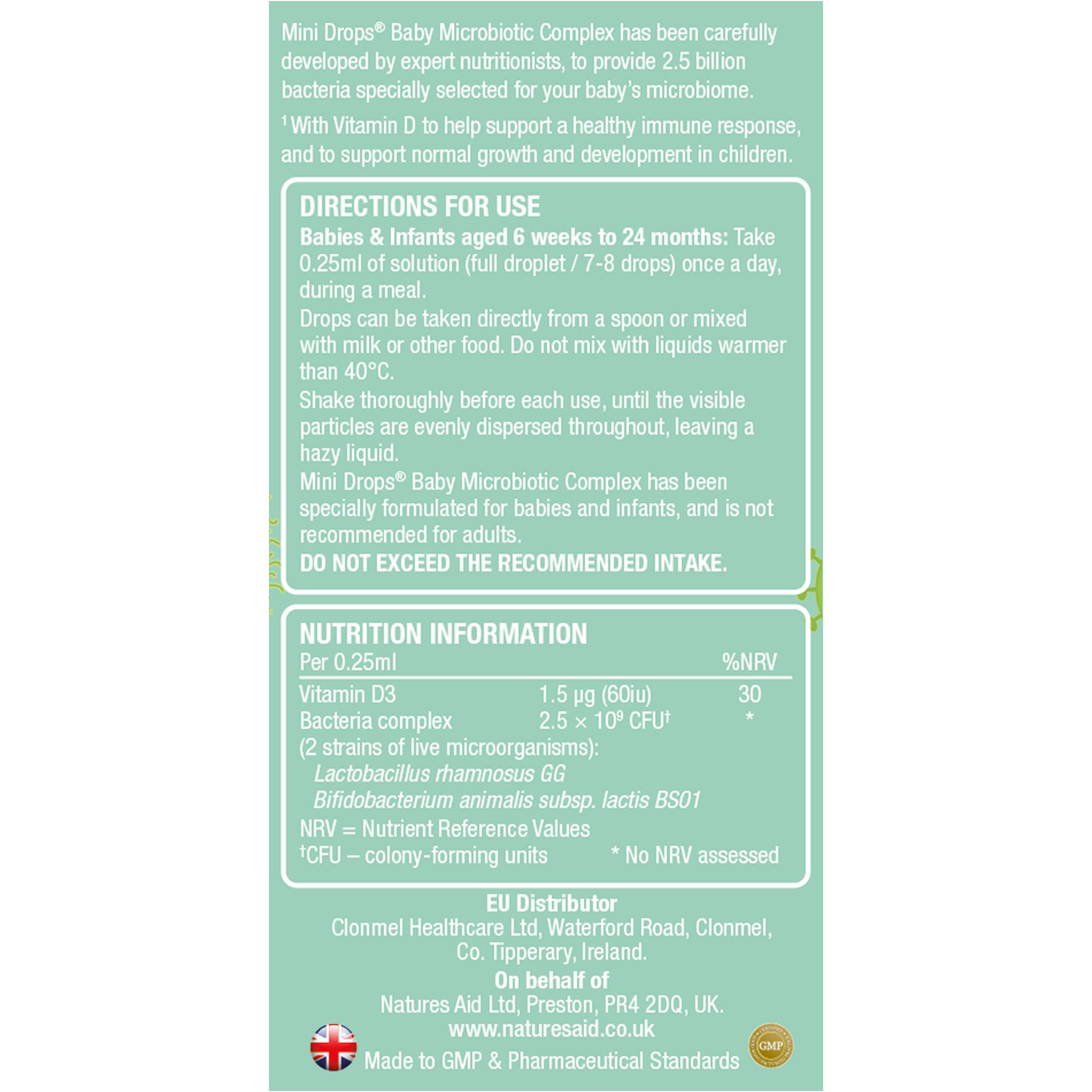 Mini Drops Baby Microbiotic Complex + Vitamin D3 10ml