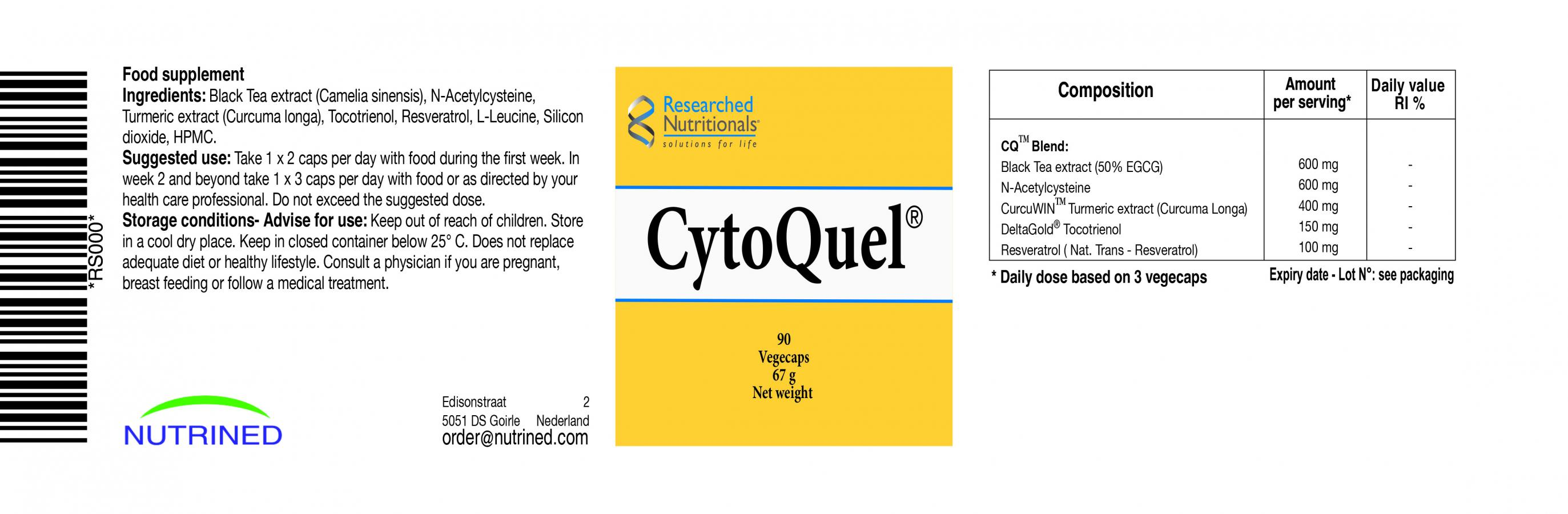 CytoQuel 90's (Currently Unavailable)