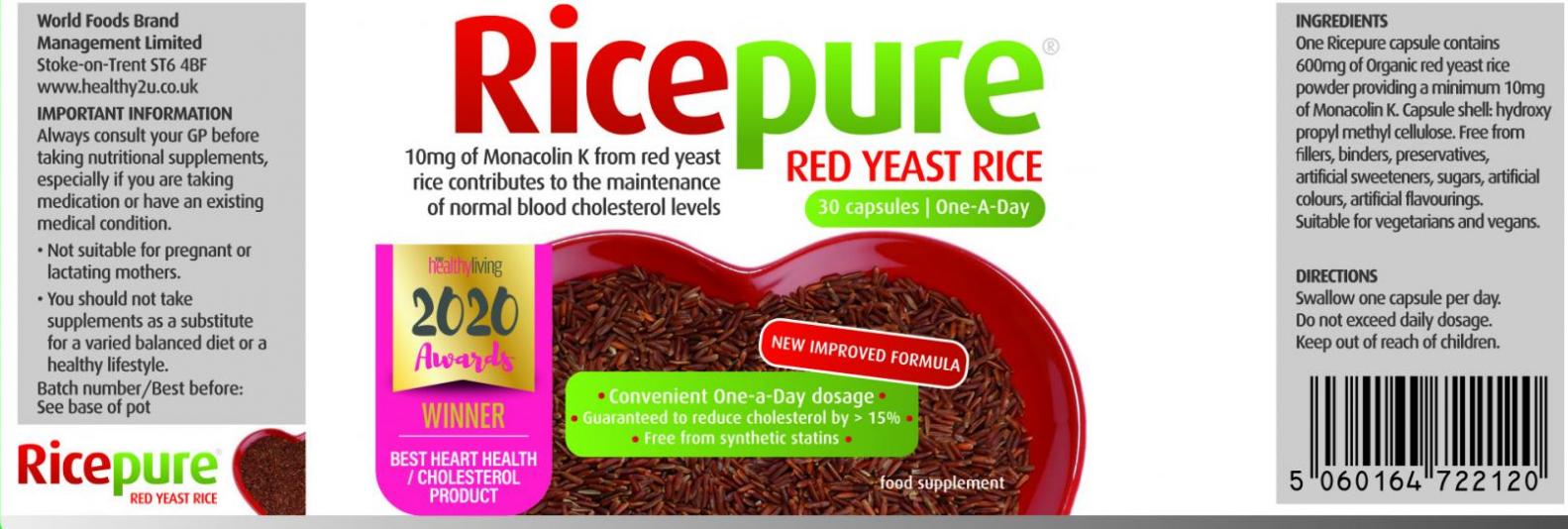 Red Yeast Rice One-a-Day 30's