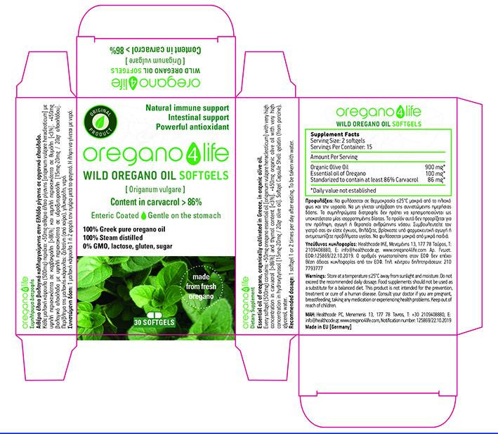 Wild Oregano Oil Softgels 30's