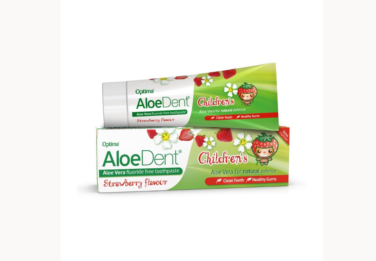 Aloe Vera Fluoride Free Toothpaste Children's Strawberry Flavour 50ml