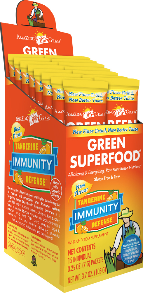 Green SuperFood Immunity Tangerine 15 x 8g