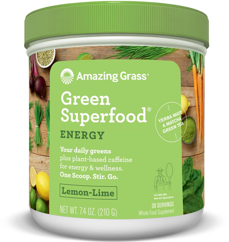 Green SuperFood Energy Lemon and Lime (30 Servings) 210g (Currently Unavailable)