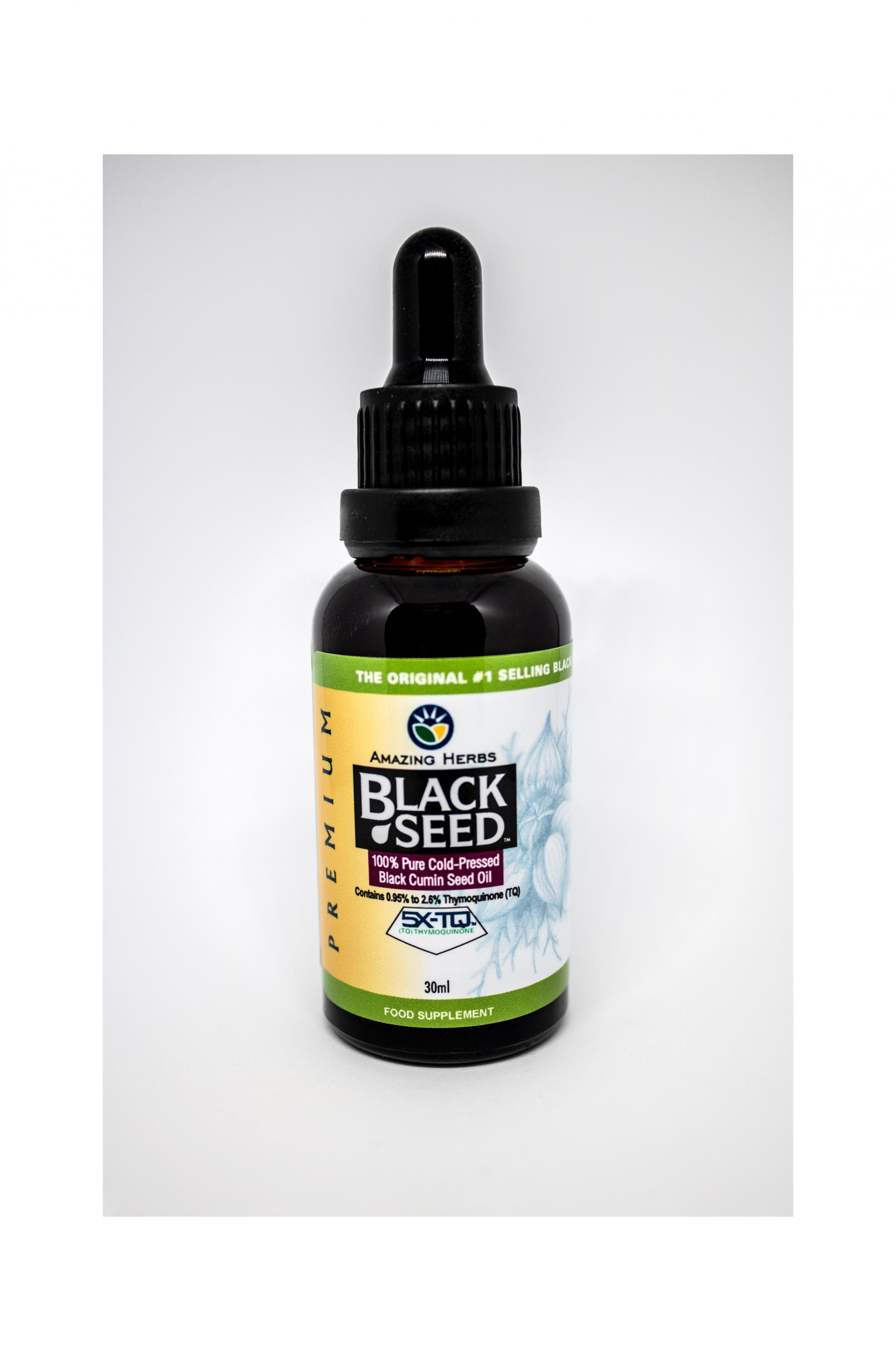 Premium Black Seed 100% Pure Cold-Pressed Black Cumin Seed Oil 30ml