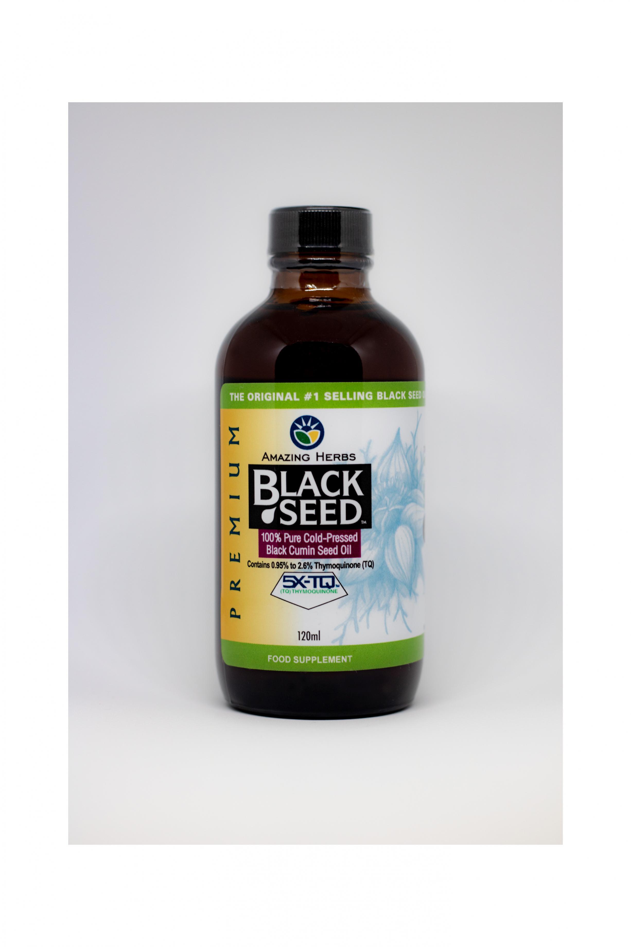 Premium Black Seed 100% Pure Cold-Pressed Black Cumin Seed Oil 120ml