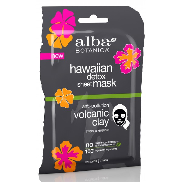 Hawaiian Detox Sheet Mask Anti-Pollution Volcanic Clay Single