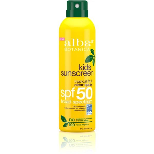 Kids Sunscreen Tropical Fruit Clear Spray SPF50 171g