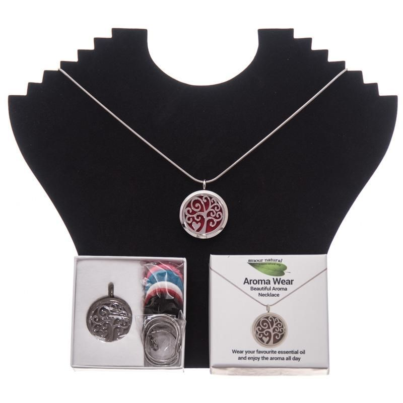 Aroma Wear Heart (Red) Necklace