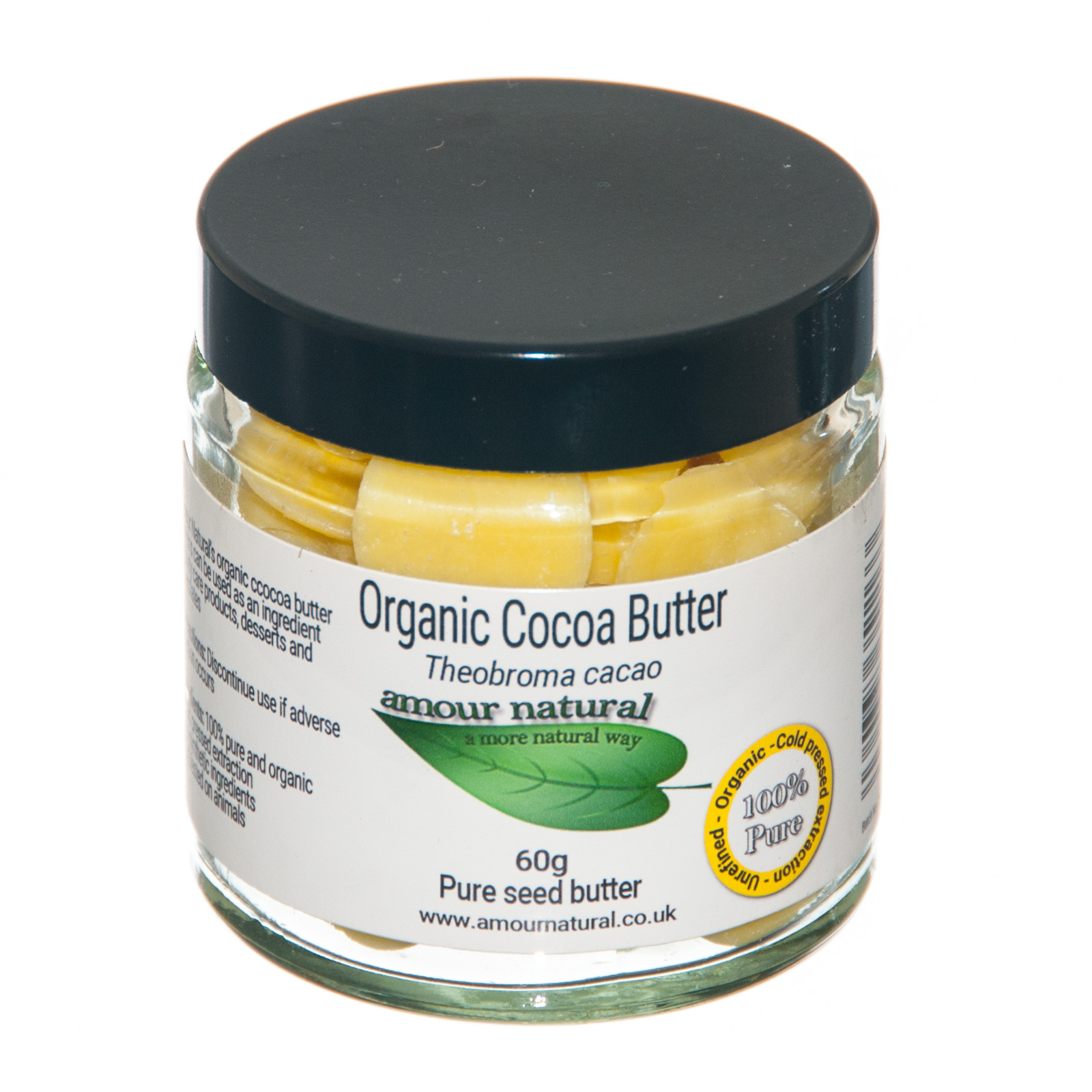 Organic Cocoa Butter Buttons 60g