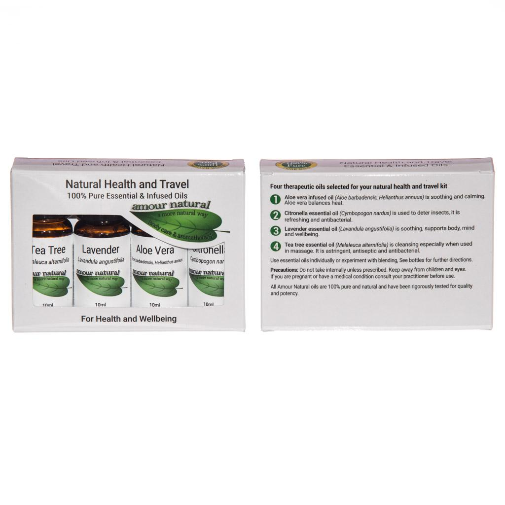 Natural Health and Travel Set of 4 x 10ml