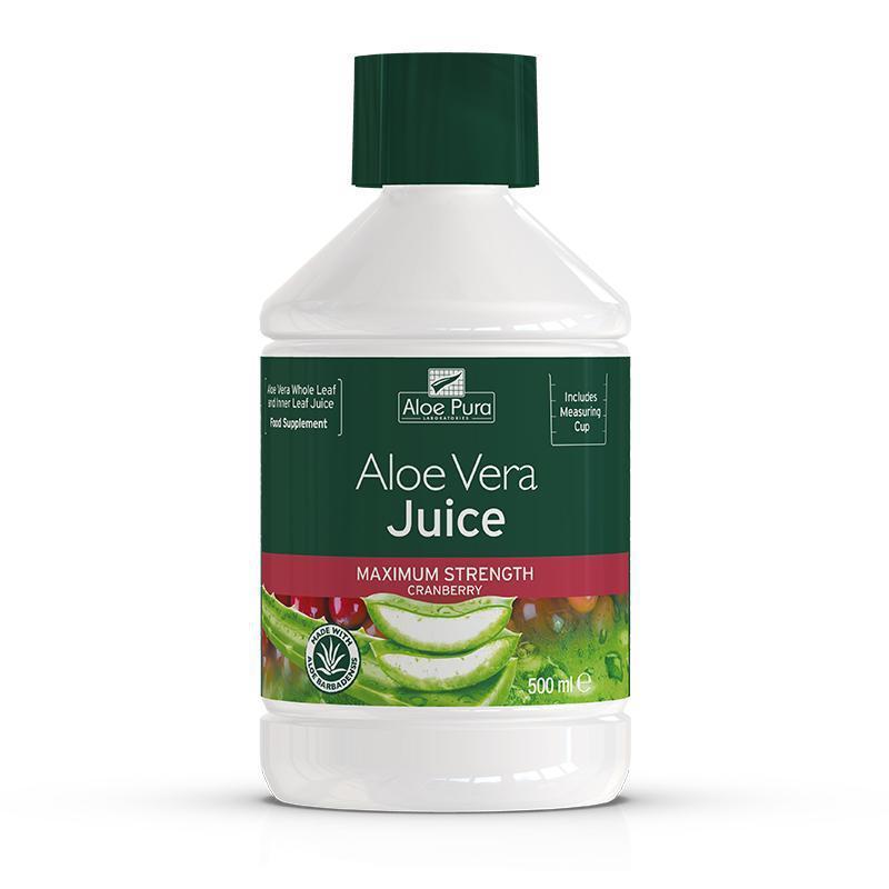 Aloe Vera Juice Maximum Strength Cranberry 500ml