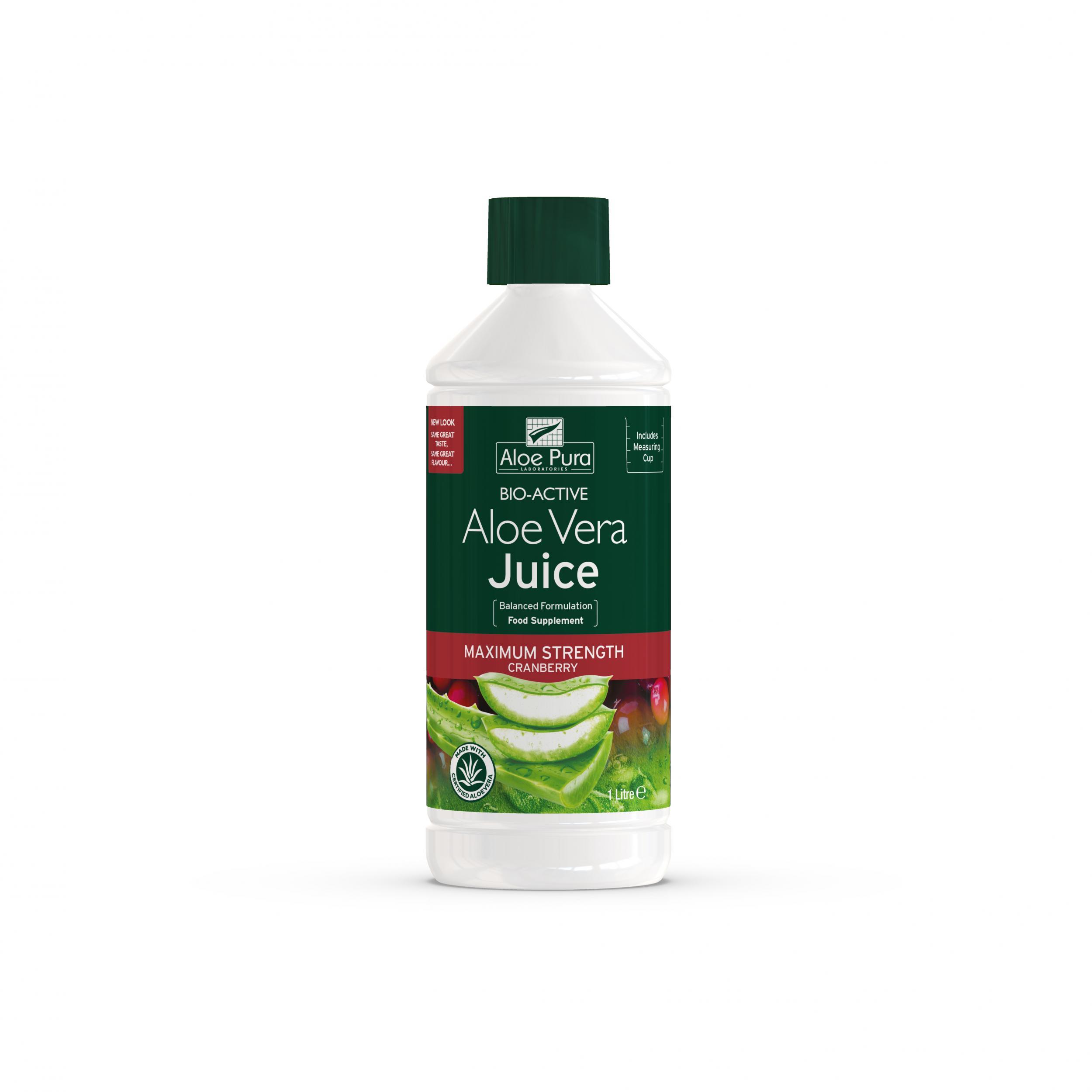 Aloe Vera Juice Maximum Strength Cranberry 1ltr