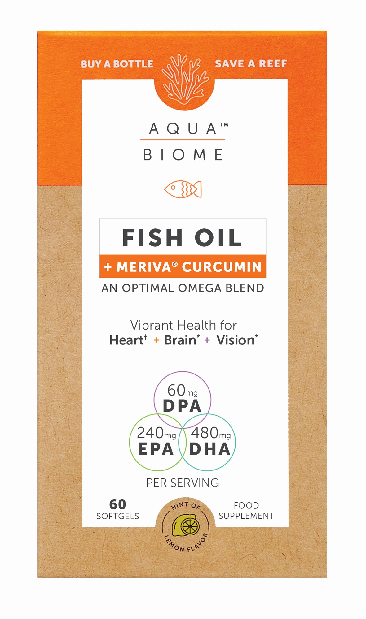 Fish Oil + Meriva Curcumin 60's