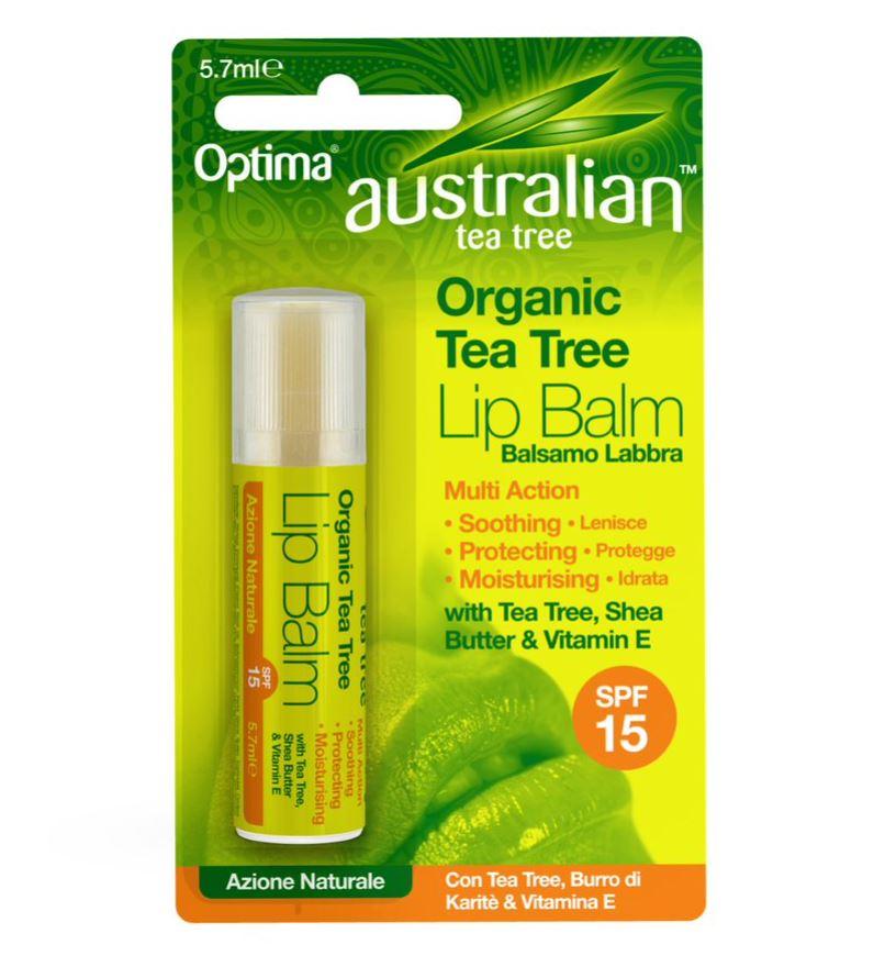 Organic Tea Tree Lip Balm SPF15 5.7ml
