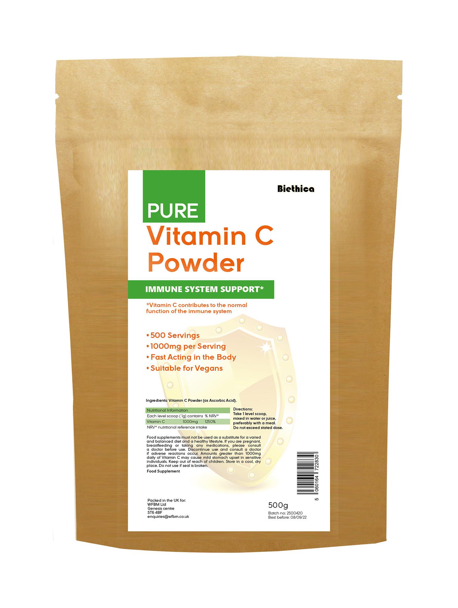 Pure Vitamin C Powder 500g