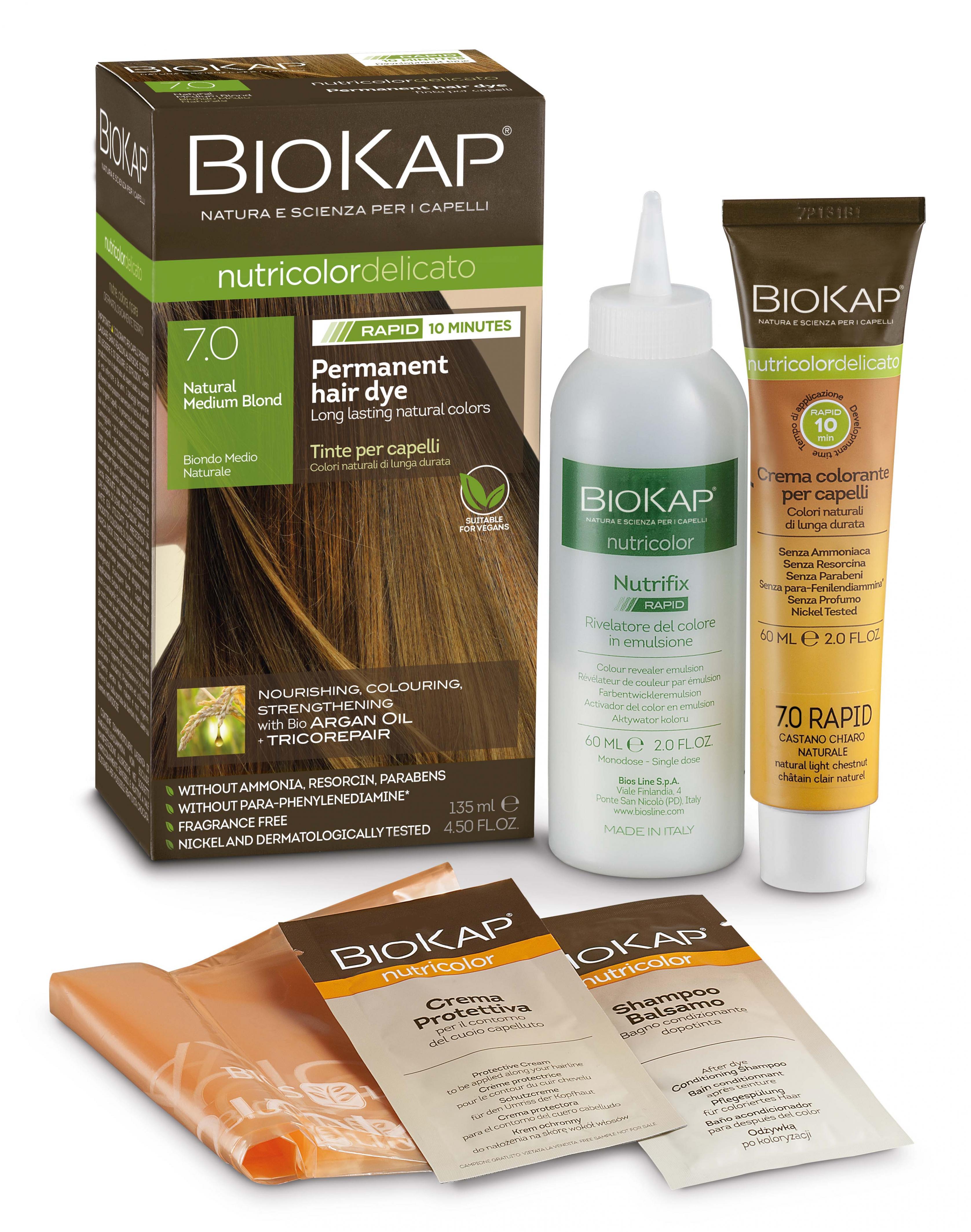 Natural Medium Blond 7.0 Rapid Hair Dye 135ml