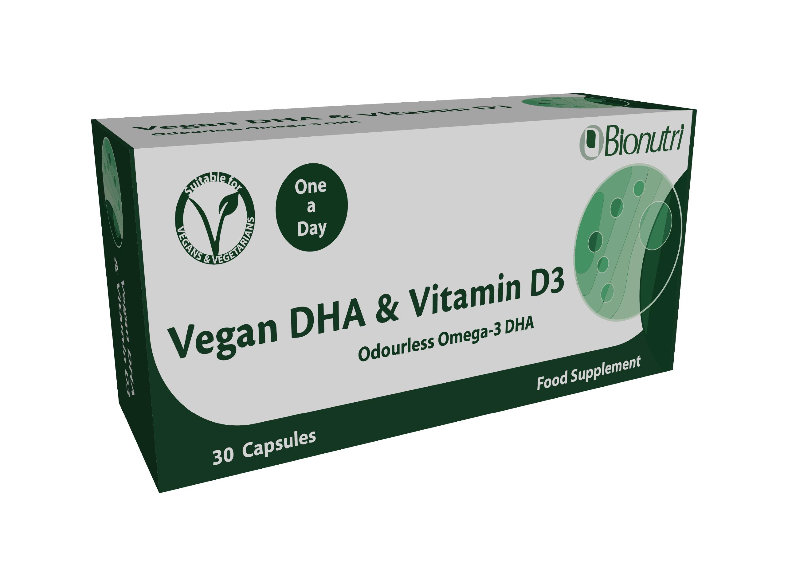 Vegan DHA & Vitamin D3 30's