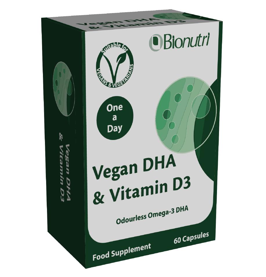 Vegan DHA & Vitamin D3 60's