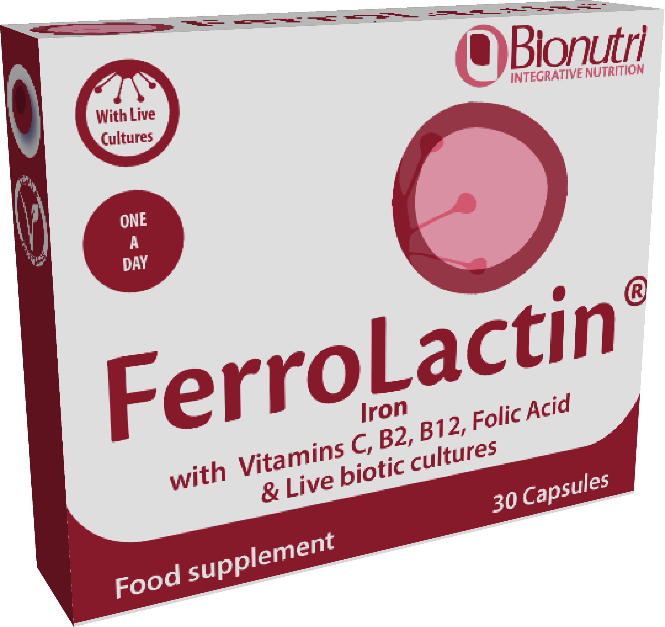 Ferrolactin (Iron Complex) 30's