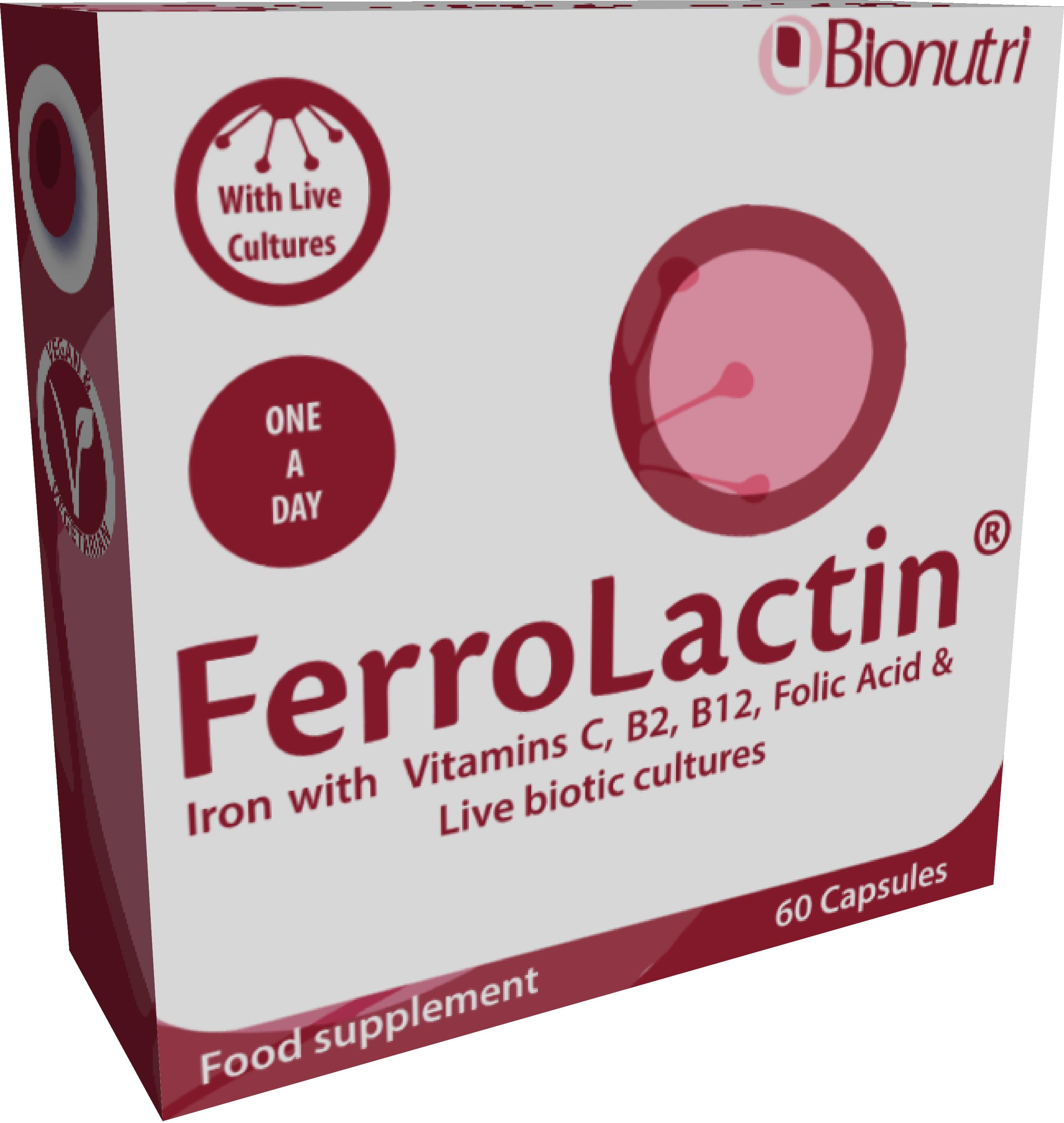 Ferrolactin (Iron Complex) 60's