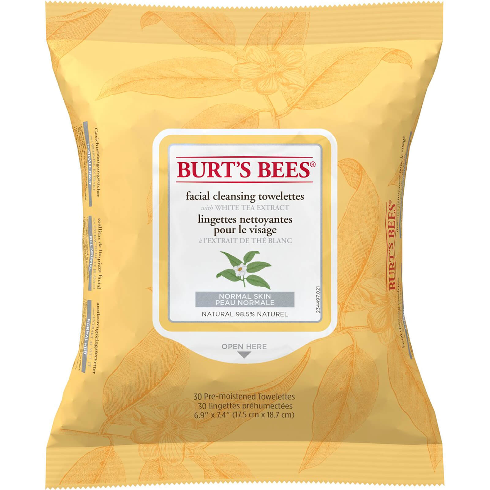Facial Cleansing Towelettes with White Tea Extract 30's