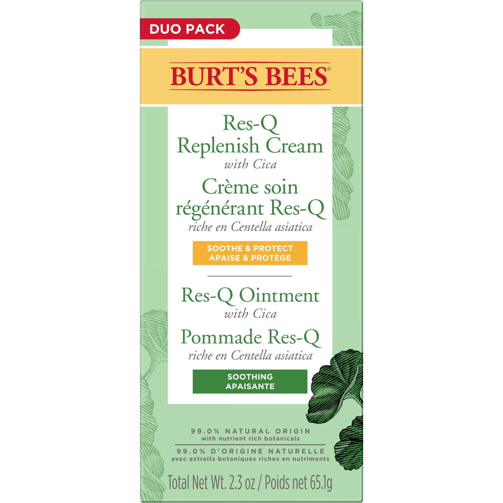 Res-Q Replenish Cream + Ointment Duo Pack 65.1g