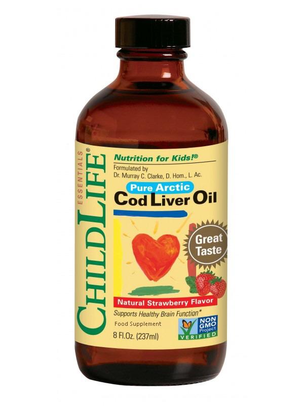 Cod Liver Oil Natural Strawberry Flavour 237ml
