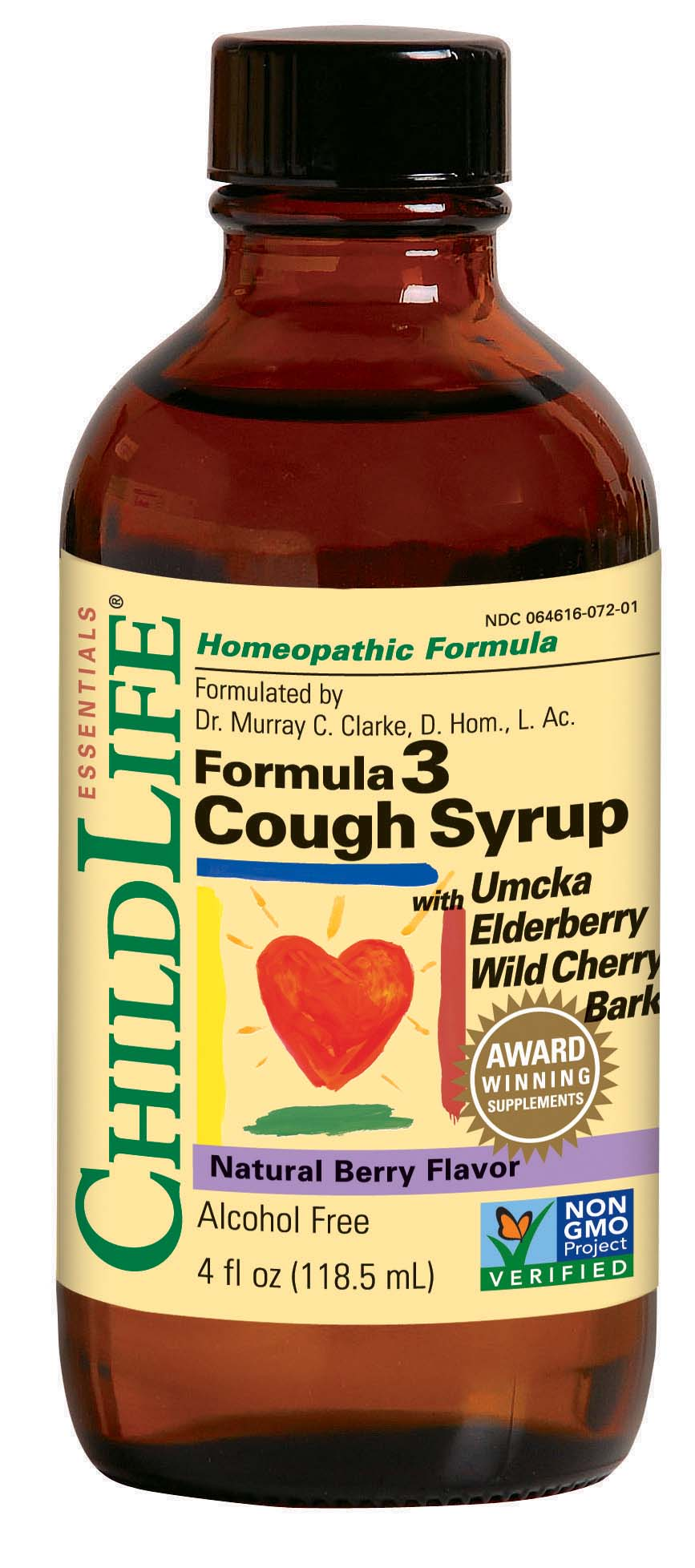 Formula 3 Cough Syrup Natural Berry Flavour 118.5ml