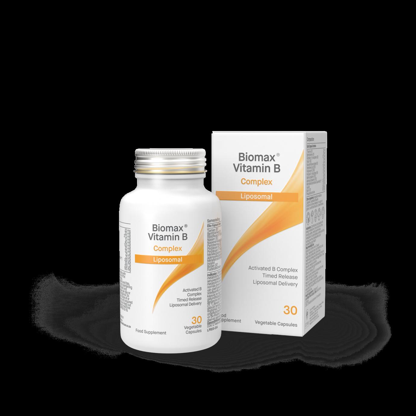 Biomax Activated Vit B.Co Liposomal 30's