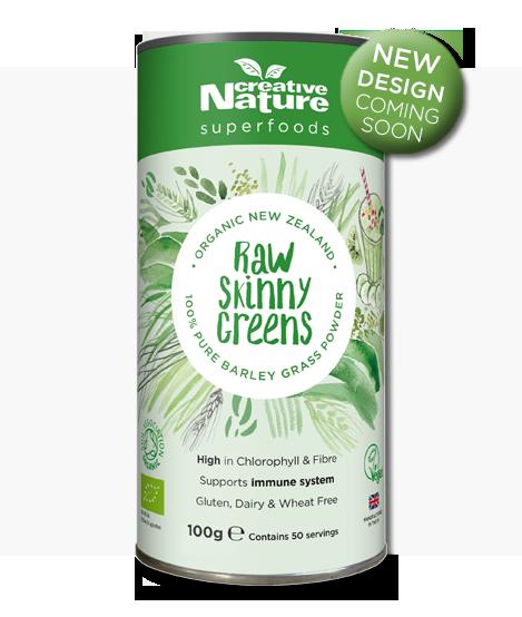 Organic New Zealand Barley Grass (Formerly Raw Skinny Greens) 100g