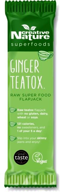 Tropical Ginger Teatox   Flapjack Bar (Case of 20)