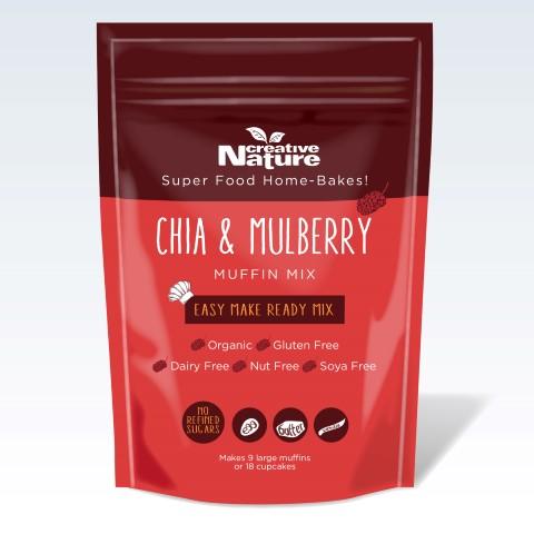 Organic Chia & Mulberry Muffin Mix 400g