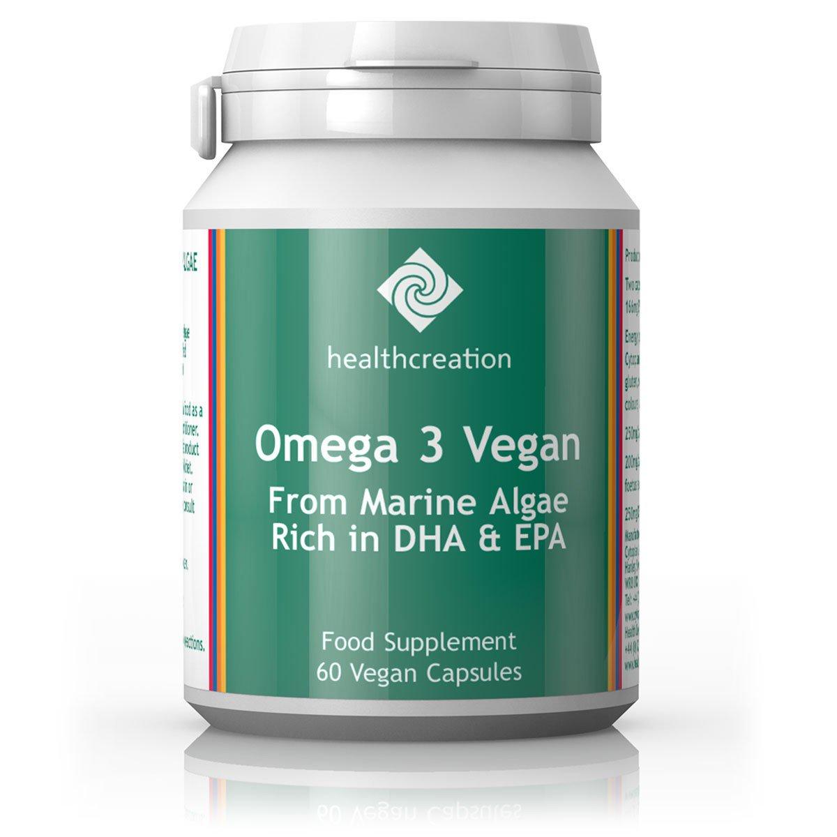 Health Creation Omega 3 Vegan 60's