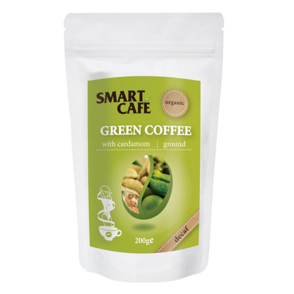 Organic Green Coffee With Cardamon Ground Decaf 200g