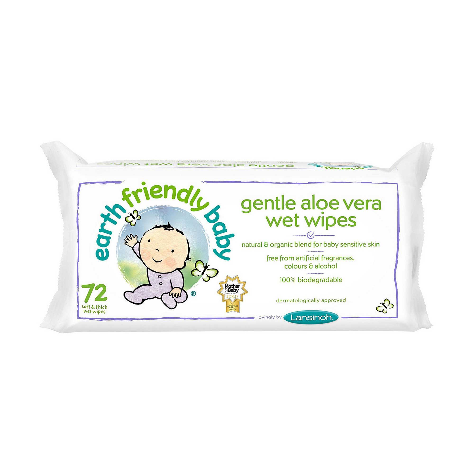 Gentle Aloe Vera Wet Wipes 72's