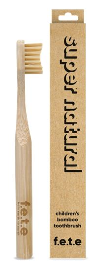 Children's Bamboo Toothbrush - Super Natural (single)