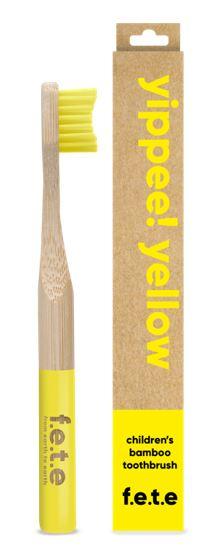 Children's Bamboo Toothbrush - Yippee Yellow (single)