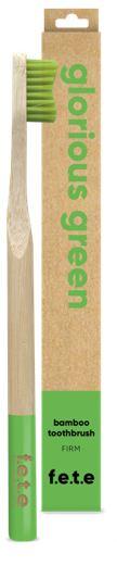 Bamboo Toothbrush Firm Bristles - Glorious Green (single)