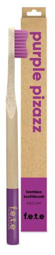Bamboo Toothbrush Medium Bristles - Purple Pizazz (single)