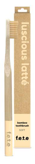 Bamboo Toothbrush Soft Bristles - Luscious Latte (single)