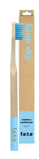 Bamboo Toothbrush Soft Bristles - Blue Sky (single)