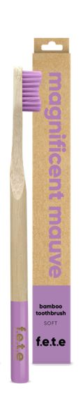 Bamboo Toothbrush Soft Bristles - Magnificent Mauve (single)