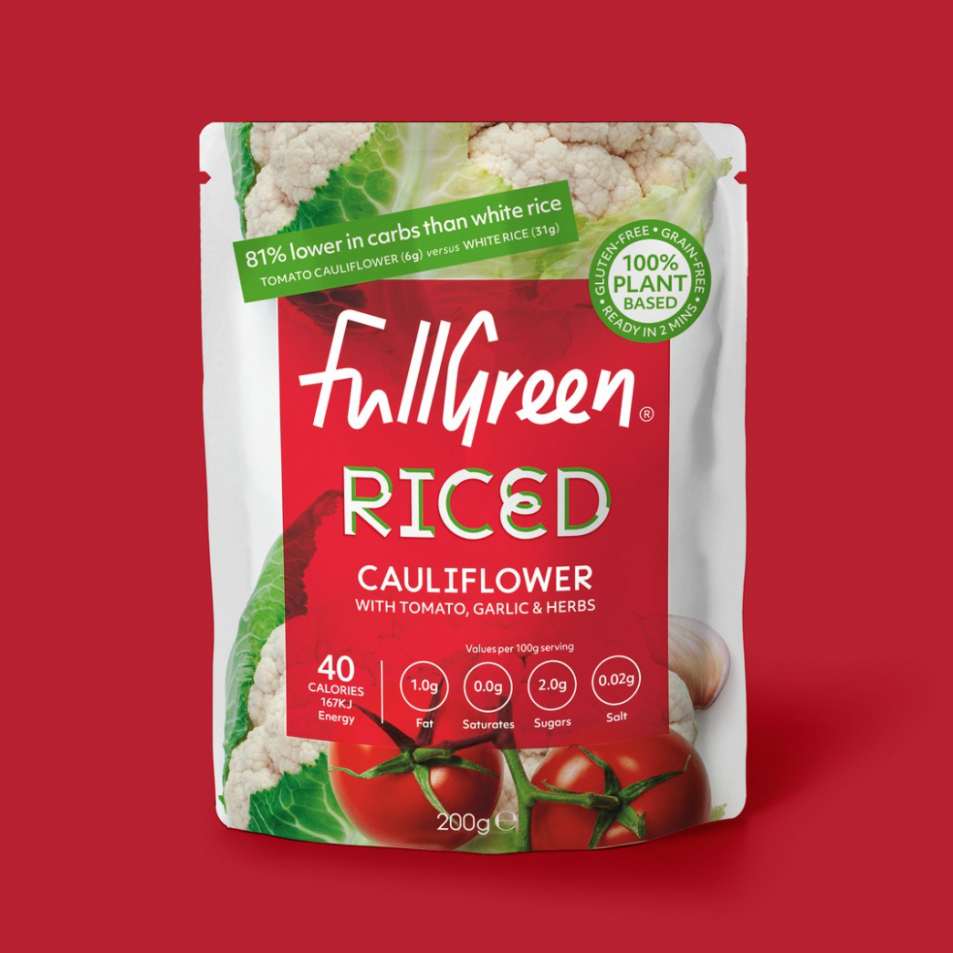 Riced Cauliflower With Tomato, Garlic & Herbs 200g
