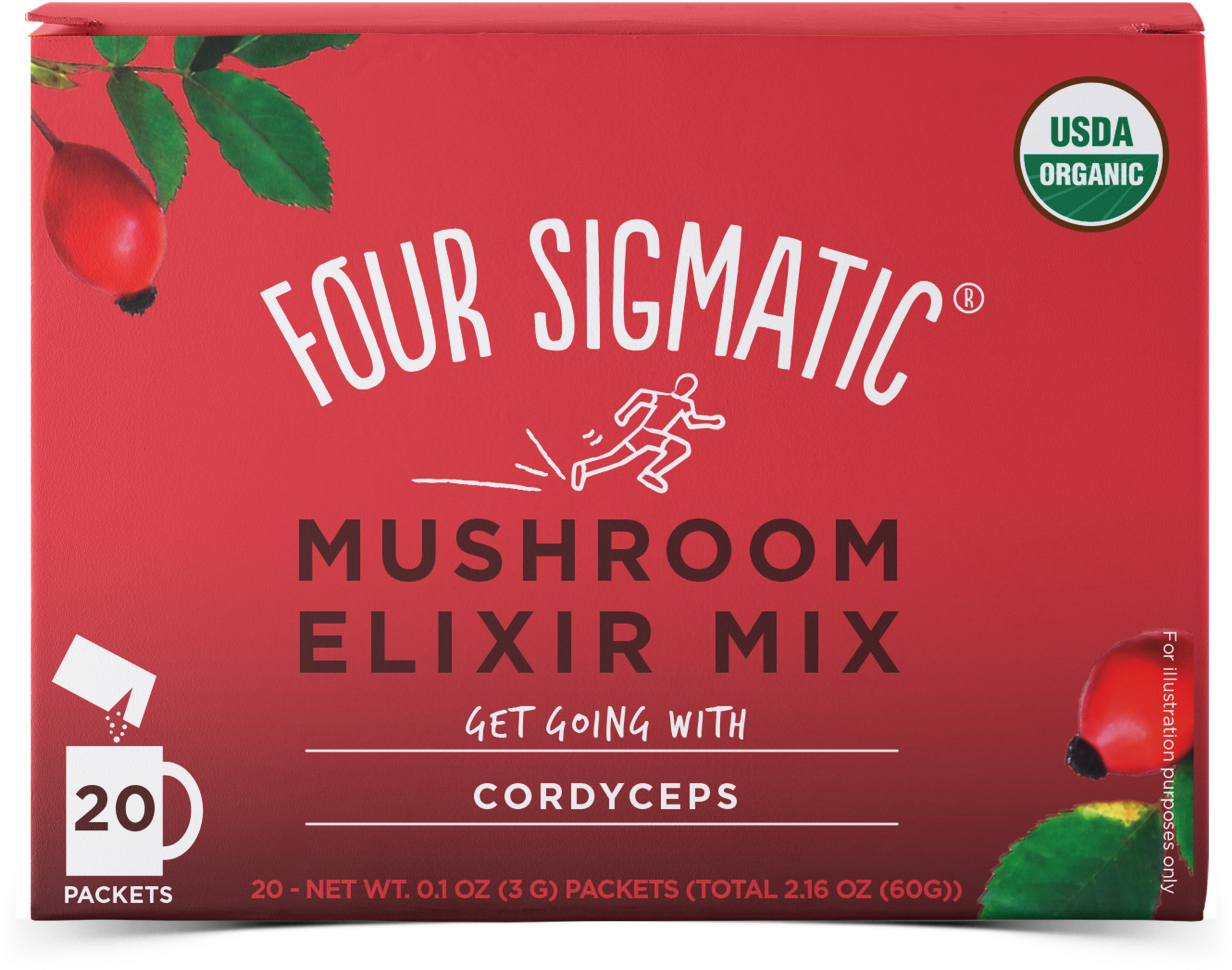 Mushroom Elixir Mix Perform With Cordyceps 20 x 3g