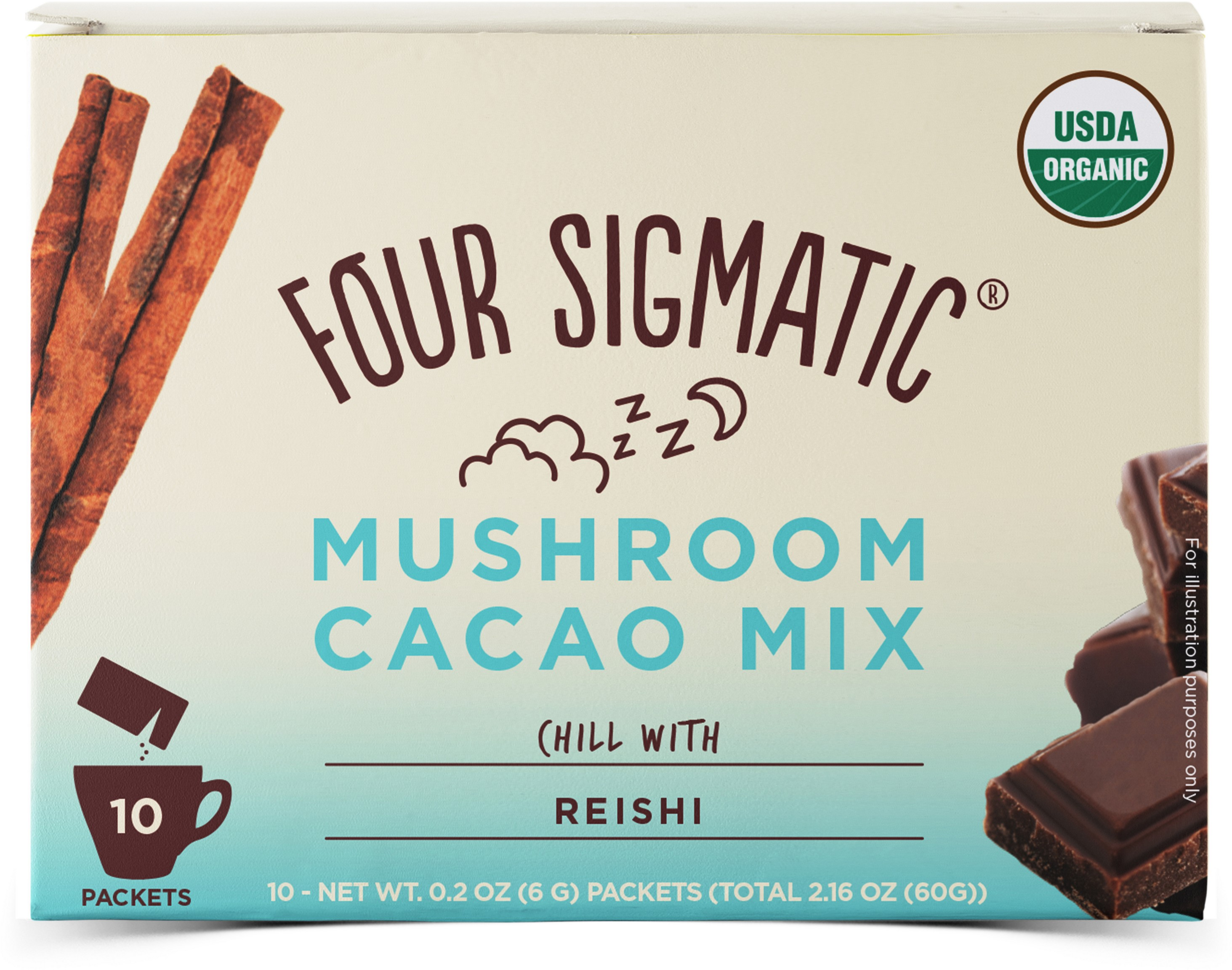 Powdered Cacao With Reishi Extract 10 x 6g