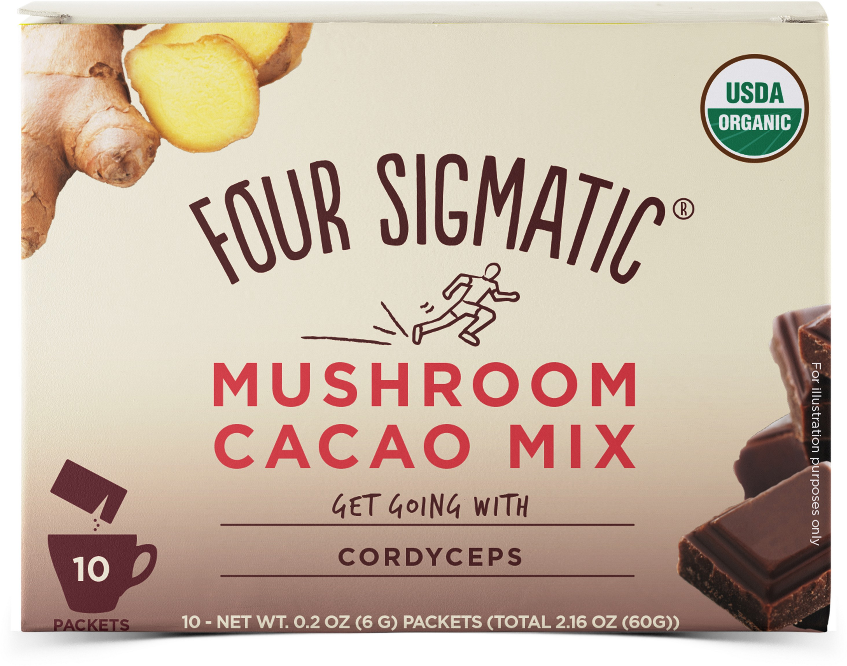 Mushroom Cacao Mix Get Going with Cordyceps 10 x 6g