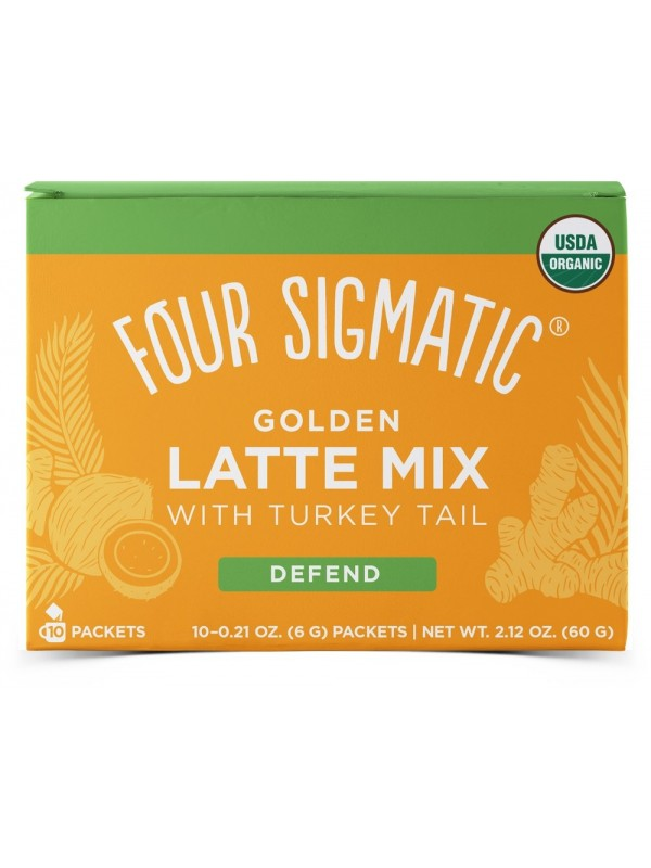 Golden Latte Mix Defend With Turkey Tail 10 x 6g